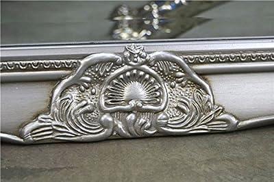 Livitat® Wandspiegel Spiegel Badspiegel barock antik silber