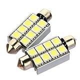 Couleur:  BLANC  Modele: 5050 8 SMD LED (Avec radiateur)  Montage: Plafonnier feston, Ampoule toit   40mm -44mm : 211, 211-2, 212, 212-2, 214-2, 569, 578, 6413, 6429, 12844, DE440   CANBUS technologie   Couleur: Blanc pur   Taille: 43mm   Tension: 12...