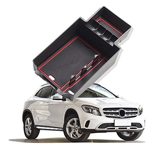 YEE PIN Auto Central Console Aufbewahrungsbox Kompatibel mit Mercedes Benz GLA X156 2015-2019 Autozubehör Innenfront Handschuhfach Mittelkonsole Armlehne Organizer Tray Mit Rutschfester Matte
