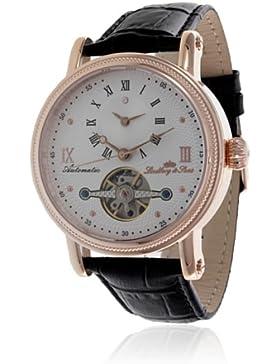 Lindberg & Sons - Herren-Armbanduhr mit einem echten Diamanten - Automatik Analog - Zifferblatt Beige - Lederarmband...