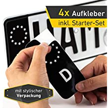 Velcro-Car Support de plaque dimmatriculation de voiture sans cadre avec Velcro