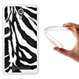 WoowCase Coolpad Porto S Hülle, Handyhülle Silikon für [ Coolpad Porto S ] Tier Zebradruck Handytasche Handy Cover Case Schutzhülle Flexible TPU - Transparent