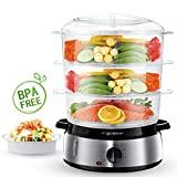 Aigostar Fitfoodie Steel 30INA - Dampfgarer mit Timer (800 W, 9 L)...