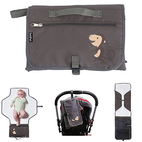 IntiPal - Fasciatoio per cambio pannolini, con tasche – Kit per cambio pannolini portatile per viaggi e casa