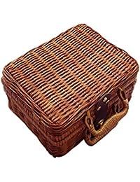 14e412e3b SODIAL Bolso de senora Canton de mano puro Bolsa de almacenamiento  Accesorios bolsa de viaje de