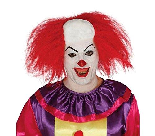 MEDIA WAVE store Parrucca da clown semicalvo con cuffia 049761 per feste e rappresentazioni