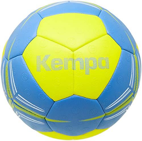 Kempa Spectrum Synergy Pro Handballons, Größe 3, Erwachsene, Unisex, Limettengelb/Dove Blau, 3