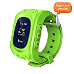 Witmoving Childrens Smartwatch GPS Tracker Kids Wrist Watch Phone Sim Anti Lost SOS Bracelet Parent Control By IPhone IOS Android Smartphone Green
