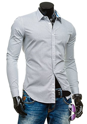 BOLF – Chemise casual – avec manches longues – GLO STORY 1157 – Homme Blanc