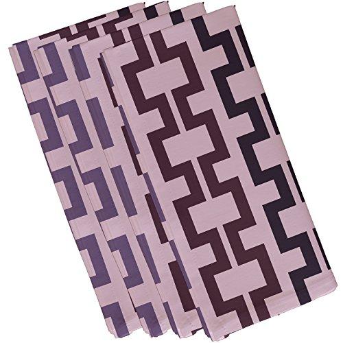 """E By Design Manschettenknöpfe, geometrisches Muster 19\""""x 19\"""" mulberry"""