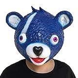 Wawer Rosa Bär Spiel Maske Cosplay Kostüm Zubehör Kuschel Team Leader Fortnite Vollgesichtsschmelzende Gesicht Erwachsene Latex Kostüm Spielzeug Maske Outdoor Jagd Cs Krieg Spiel Maske (Blau)