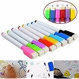 8 Colores Pizarrón Marcadores Bolígrafos Finos Borrador Punto