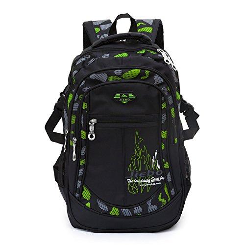 Mochila niños mochila para chicos Mochila escolares niño mochilas escolares bolsos de escuela para niños(Green)