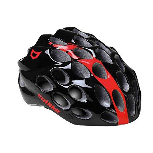 Catlike Whisper Casco de Ciclismo, Unisex Adulto, Negro / Rojo, M (56-58 cm)