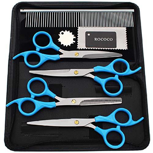 TOOGMO Pet Grooming Scissors Set Edelstahl Pet Trimming Kit Pet Grooming Scissors Set Hund Oder Katze Mit 6 5 Zoll -
