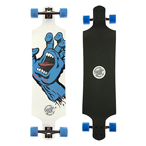 Santa Cruz Longboard Screaming Hand Drop Down, 10.0 x 40.0 Zoll, SANLOBSCHADDO