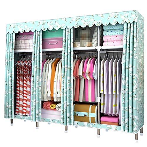 DPPAN Portable Storage Closet, große Größe verdicken Schattierung Tuch Kleidung Veranstalter Kleiderschrank Regale, Garment Organizer,E_78.7