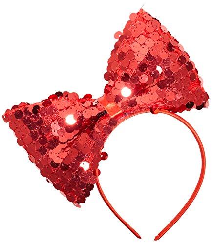 WIDMANN?Diadema con lazo de lentejuelas Womens, rojo, talla única, vd-wdm9318r