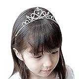 Muchacha cristalina del banquete de boda de la flor niños diamantes de imitación Corona Tiara Diadema