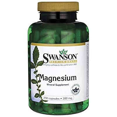 Swanson Magnesium 200mg, 250 Capsules by Swanson Health Products