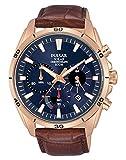 Pulsar Reloj cronografo para Hombre de Energía Solar con Correa en Piel PZ5062X1
