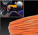 15m Orange Grille de voiture chromée pour décoration extérieure Moulage Garniture Bande 4mm