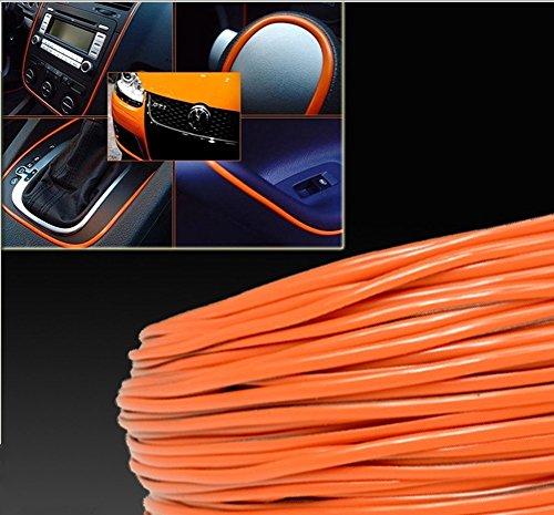 Moteur 3D DIY Automobile Voiture ligne Intérieur Décoration extérieure Garniture Moulding bande Autocollant-Orange