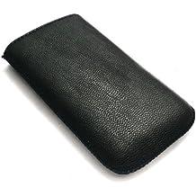 Emartbuy Black Textured Pu-Leder-Tasche / Case / Sleeve / Halter (Klein) Mit Pull Tab Mechanismus Für Sony Ericsson Zylo
