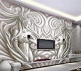 ADLFJGL 3D-Skulpturen Und Großen Wandgemälden Salon Magie Aus Um Die Gang Sofa Videos Hintergrund Tapete 250×175Cm Wallpaper
