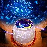 Pawaca Sterne Nachtlicht Projektionslampe Romantische Bunte LED Lampe Drehbar Romantischer Sternenlicht-Projektor Geburtstag Weihnachten Geschenk für Freundin, Kinder Oder Kinder