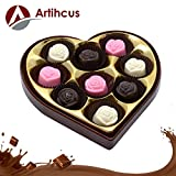 #5: ARTIHCUS Delicious Rich Assorted Chocolates Heart Shaped Gift Pack - 9Pc