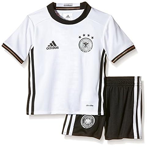 adidas Kinder Trikot UEFA EURO 2016 DFB Mini-Heimausrüstung, schwarz/weiß, 98, AA0139