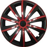 CM DESIGN GRAL Rot/Schwarz - 14 Zoll, passend für fast alle VW z.B. für Polo 6R