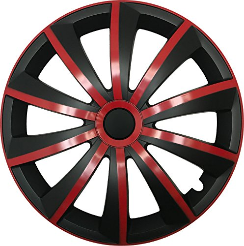 CM DESIGN GRAL Rot/Schwarz - 14 Zoll, passend für Fast alle Kia z.B. für Picanto