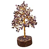 FASHIONZAADI Gemstone Bonsai Money Tree Healing Crystals Stone for Chakra Reiki Feng Shui Gift Home Office Table Decor Gift Size -10 Inch