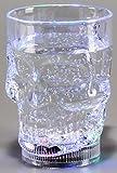 GW Handels UG LED Trinkglas, Totenkopfglas, Haloweenglas 350 ml blinkend in Verschiedenen Farben Bunt