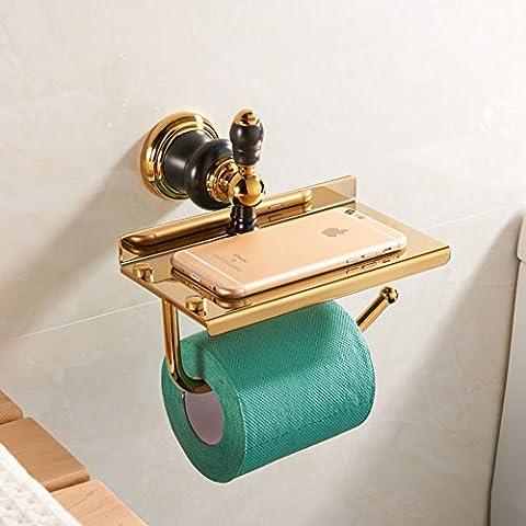 Geschnitzte Jade Voll Kupfer Papier Handtuchhalter/Bad-hardware-zubehör/Mobile-rack/Toilettenpapierhalterung-N