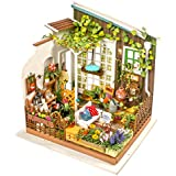 ROBOTIME ROBOTIME DIY Miniature Dollhouse Kit Garden House With Furniture Sets Best Christmas Gifts For Adults And Kids
