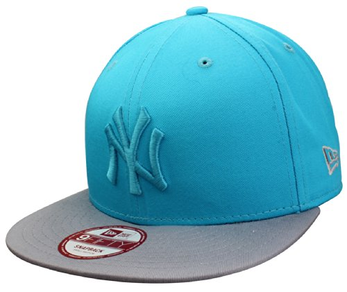 Casquette New York Yankees Snapback Cap Pop Tonal de New Era in turquoise / grey | Taille S/M