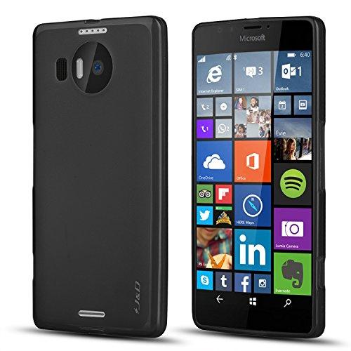 J & D Lumia 950 XL Hülle, [Leichtgewichtig] [Fallschutz ] Stoßfest TPU Slim Hülle für Lumia 950 XL - Schwarz