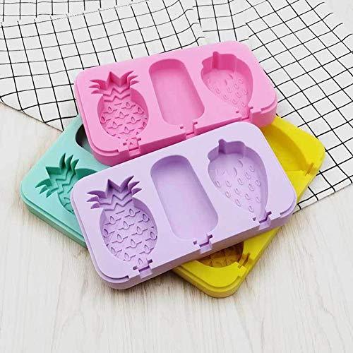 iBellete Farbe zufällige Ananas Erdbeere Klassische quadratische Eisform manuelle DIY EIS am Stiel Touch kreative hausgemachte EIS