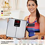 Hesley BMI BODY-ANALYZER WEIGHING SCALE, Highly Accurate Digital Bathroom Body Composition Analyzer, Measures Weight, Body Fat, Water, Muscle, Bone Mass,BMI & Metabolishfor 10 Users.