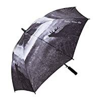 Roaring Stag Umbrella with automatic opening - Black & White Deer Photograph