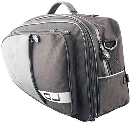 Oj jm0340 side bags coppia borse laterali universali in poliestere per sella con sistema di fissaggio a cinghie