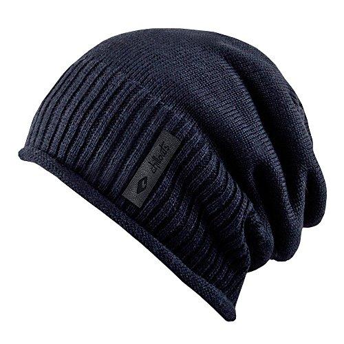 Etien Beanie Fleecefutter Strickmütze mit Teddyfleece Wintermütze Oversize-Mütze Mütze Chillouts Wintermütze Strickmütze (One Size - blau)