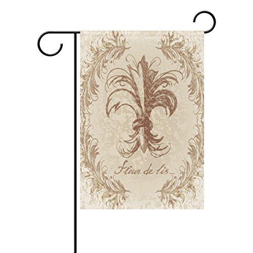 Duble Face médiéval Fleur de Lis de style vintage Polyester Maison Jardin Drapeau Bannière 12 x 18/71,1 x 101,6 cm pour fête de mariage tous les temps, Polyester, multicolore, 28x40