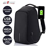 #3: AllExtreme Anti theft Backpack Business Laptop Bag with USB Charging Port Waterproof Camping Organizer Bag Anti-theft Bagpack (Black)