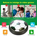 BATTOP Hover Ball Kids Toy Air Power Soccer Sport Training Football with Foam Bumper and Colorful LED Lights for Indoor Outdoor Games