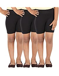 SCHOOL GIRL'S SPANDEX SHORTS PACK OF 3
