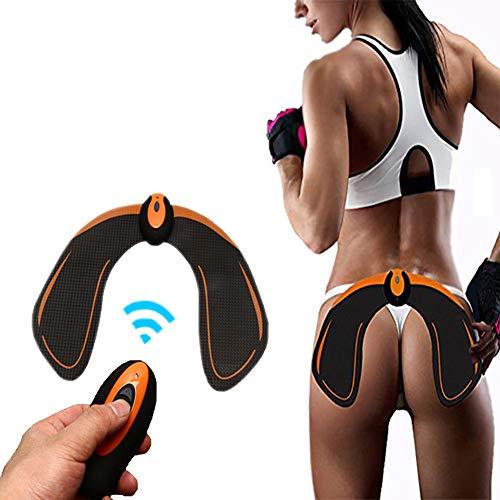 HIXGB Hips Muscle Toner,Entrenador Muscular Multifunción,Estimulador Muscular Inalámbrico EMS,Cinturón De Adelgazamiento Eléctrico,Lifting/Shaping / Firm/Embellecer La Cadera,Unisex